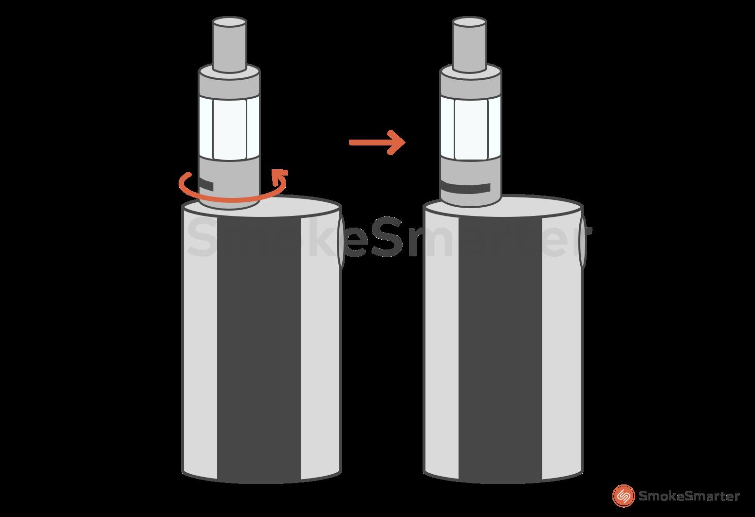 E-sigaret en clearomizer lekt - Airflow en luchttoevoer